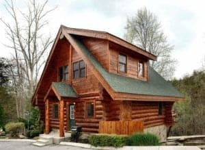 Two bedroom log home in Gatlinburg Tennessee
