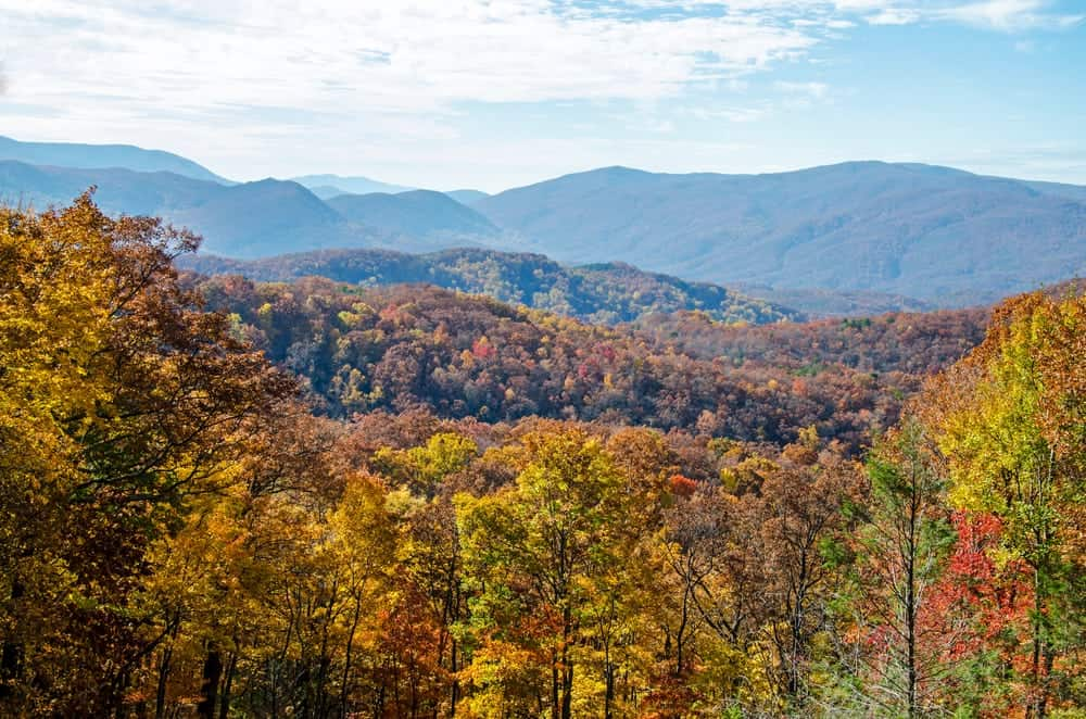 Stunning fall colors surround Gatlinburg