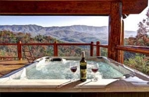 tn kimble great forge cabin mountains tubs rentals smoky in gatlinburg pigeon with hot tub
