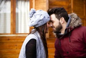 couple in cabin
