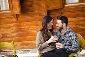 couple at a smoky mountain cabin