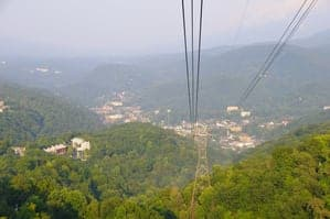View of Gatlinburg from the Ober Gatlinburg tram