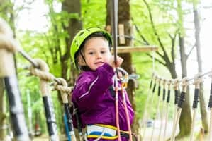 Conquering the Tree Tops Ropes Course