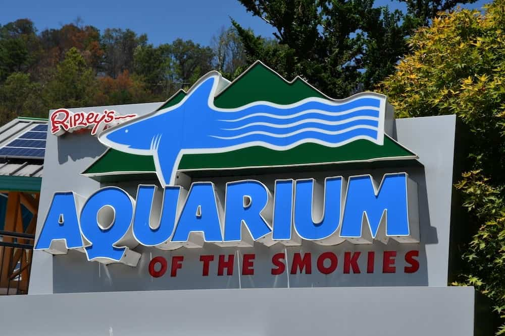 Sign at Ripley's Aquarium in Gatlinburg Tn