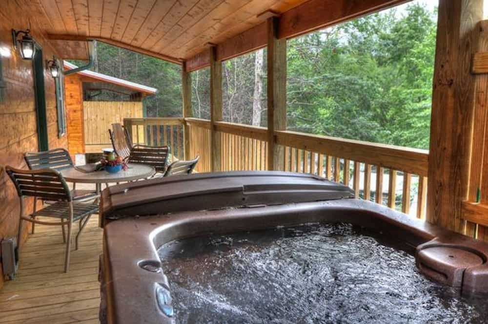outdoor hot tub on deck hook, line & sinker